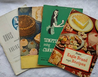 Vintage Cookbooks ~ Booklets ~ 1940's Recipe Books