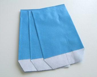10 pouches 7cm * 10.5 cm Blue Kraft gift bags