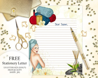 FREE Stationery Letter, Printable Freebie, Free Instant Download, Monthly Freebie Letter