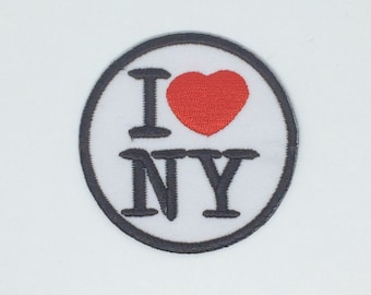 I love new york Embroidered Iron On Patch