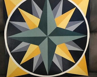 Mariners Compass Barn Quilt