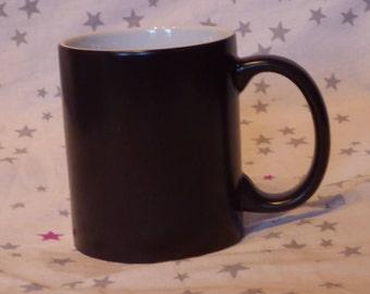Magic mug with photo and text