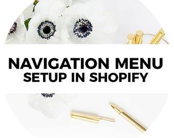 Navigation Menu Setup in Shopify or 3dcart Website Theme