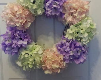 Hydrangea wreath / holiday wreath / front door wreath / Easter wreath / summer wreath / spring wreath / door wreath