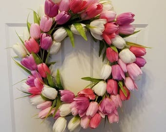 Tulip wreath / spring wreath/ summer wreath/ front door wreath/ door wreath/ spring door wreath