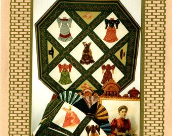 DESIGNING VICTORIAN DRESSES Quilt or Wallhanging Pattern - 1890's by Jean Teal
