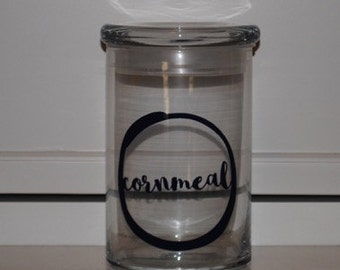 31 ounce Glass Jar 'Cornmeal'