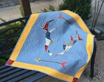 ANTLERS Quilt: MADE to ORDER   Modern Baby Quilt   Toddler Quilt   Baby Blanket   Handmade Baby Quilt   Baby Quilts for Sale   Nursery
