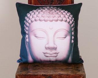 """Kissenhülle pillow case cushion cover living room Wohnzimmer Deko """"Purple Buddha"""""""