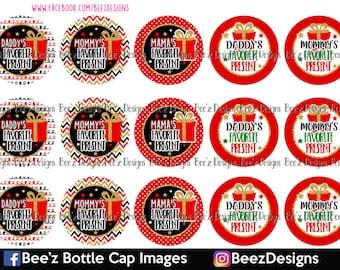 Favorite Present- INSTANT DOWNLOAD- 1 inch Bottlecap Images