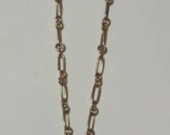 9k Rose Gold Link Chain Necklace 7.8 Grams 17.5""