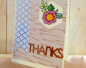 Handmade Thank You Card (A2)