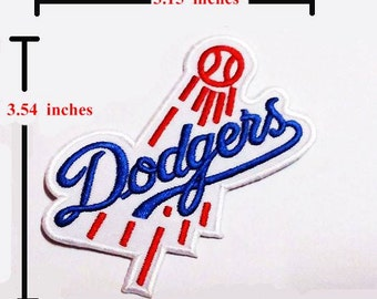 Dodgers  Sport Logo Embroidery iron-sewing-patch on fabric