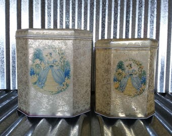 Metal Box Company Ltd. Mansfield Nesting Tins-Shabby Vintage Tin-Made in England Vintage Tin-Vintage Nesting Tin-Rusty Vintage Tin