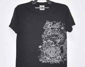 Vintage Battle Of The Band Palm Spring Tshirt Awesome Rock n Roll Big Spell Out Shirt Size Small