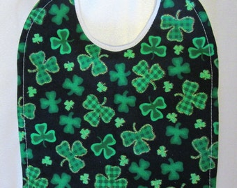 St. Patrick's Day Baby Bib- 100% cotton Quilted/Absorbent