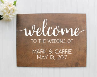 Welcome Wedding Sign| Wooden Wedding Welcome Sign| Rustic Wedding Decor| Farmhouse Wedding| Spring Wedding| Summer Wedding #3