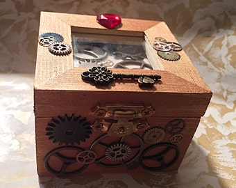 Steampunk engagement ring box