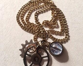 Steampunk creature necklace