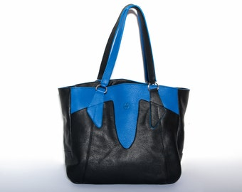 Leather bag, Tote bag, Leather tote bag, Handmade tote bag, Handmade leather bag, Hand carried bag, Shoulder carried bag
