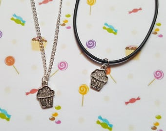 Cupcake necklace, Cake necklace, Pendant necklace, Cake, Cupcakes, Cake lovers, Birthday gift, Gifts for girls, Gift idea