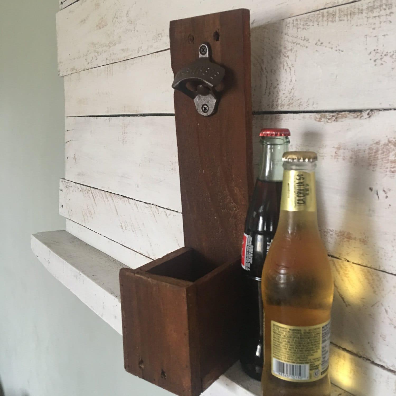 reclaimed wood bottle opener wall mounted bottle opener bottle. Black Bedroom Furniture Sets. Home Design Ideas