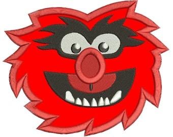 Sesame Street Animal Applique Design 3 sizes instant download