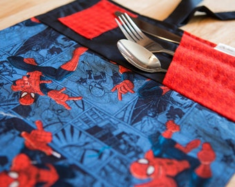 Doily for Spiderman lunch box