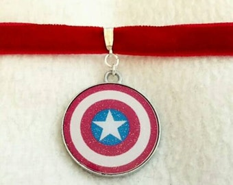 Captain America Marvel choker