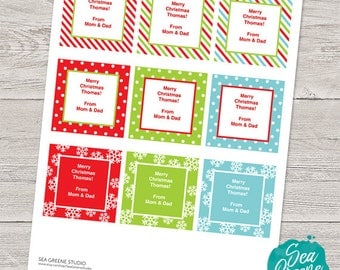 Personalize and print Christmas tags | gift tags | handmade by tags | bake sale tags