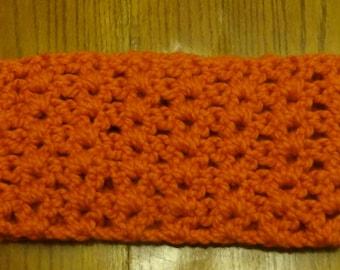 Orange Cowl- Open Weave