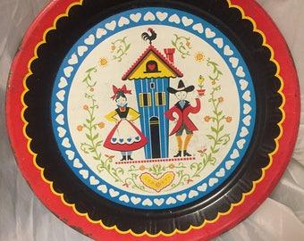 Pennsylvania Folk Art Tole Tray