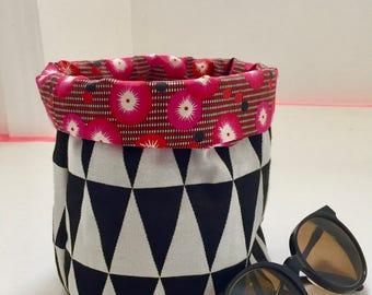 Fabric basket, basket storage basket, fabric, fabric tidy graphic, geometric fabric, decoration