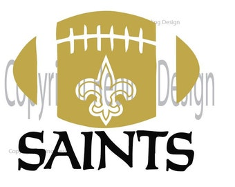 New Orleans Saints Football Digital Cut File