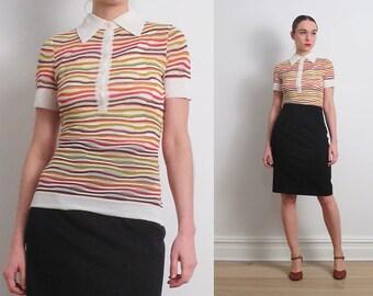 Missoni Knit Candy Stripe Polo Shirt / S
