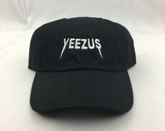 Black-Embroidered Yeezus Dad Hat| Kanye| Yeezy|Kim Kardashian| Yeezus|tlop|2020|kanye west|pablo|