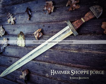 Brimsker Viking Sword PRINT ONLY (past work 8x10 bright color)