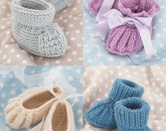 Baby Booties Knitting Pattern Leaflet Sirdar 1487 Snuggly 4 Ply, 0-2 years