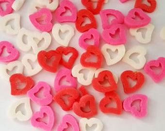Hearts sprinkles, Valentine sprinkles, EDIBLE SPRINKLES, Cake sprinkles, Cupcake sprinkles, Cake supplies, Cupcake supplies, Party supplies,