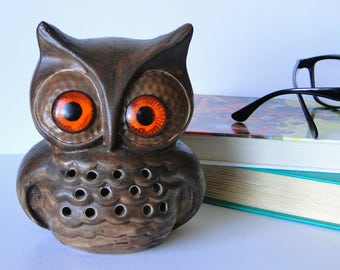 Owl, Candle Cover, Vintage, Home Decor