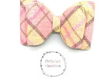 Fabric 'no tails Octavia bow' hair bow hair clip