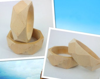 25mmx68mm unfinished wooden bangles bracelets