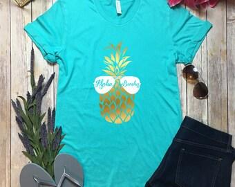 Aloha Beaches Shirt - Vaca Mode Shirt - Vaca Mode Top - Aloha Beaches Top - Cruise Shirt - Vacay Top - Aloha Beaches Pineapple Shirt - Beach