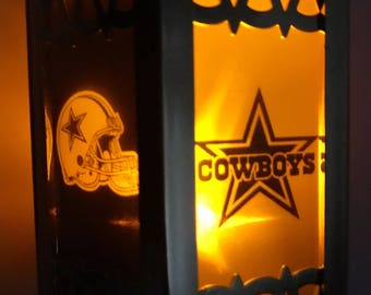 Dallas Cowboys Inspired Battery-Operated Plastic Mini Lanterns (Gold)