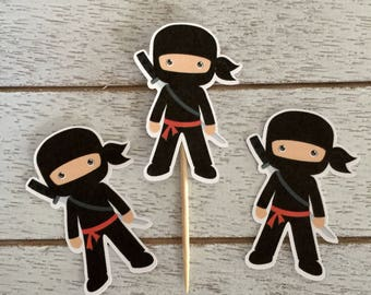 Ninja Party Cupcake Toppers