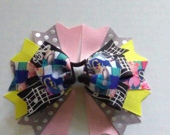 Sing hair bow, Character inspired hair bow and headband set, Boutique hair bow, musical hair bow, interchangeable headband, big hairbow