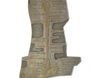 Vintage Medical Arm Humerus Bone Printing plate Engraving Plate