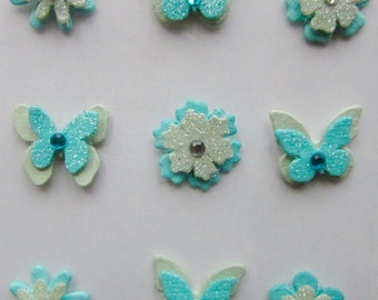 BUTTERFLIES AND FLOWERS - Hand made in India