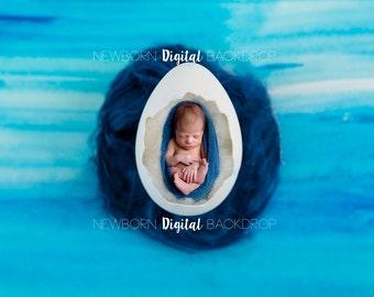 SAle* Newborn Digital Backdrop - Easter Egg Prop Faux Fur