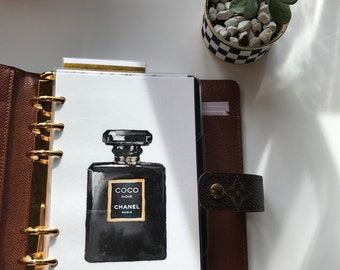 Chanel Perfume Planner Dashboard // Pocket, Personal, A5